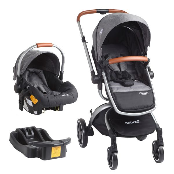 Coche Travel System Deluxe 360° - Gris SX